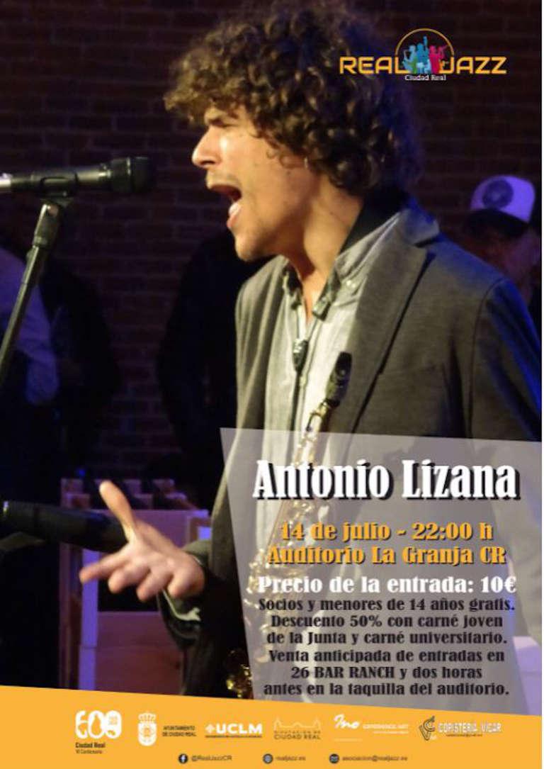 cartel concierto Antonio Lizana