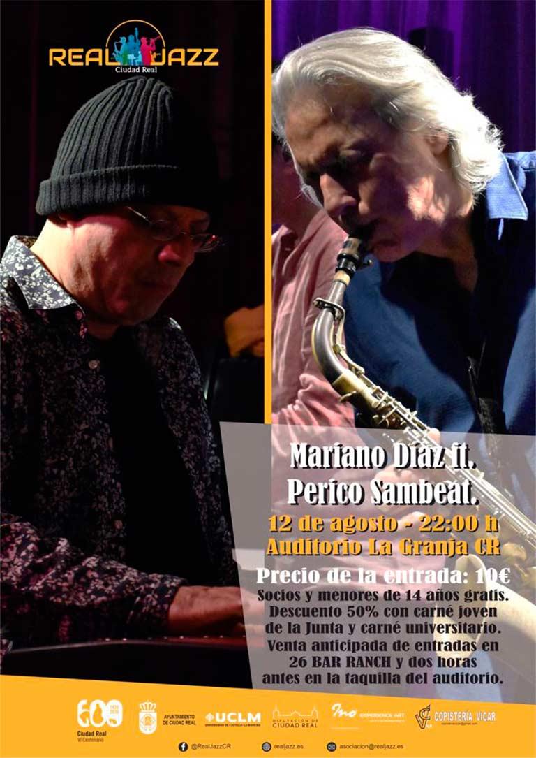 cartel concierto Mariano Diaz ft & Perico Sambeat